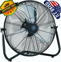20 Inch High Velocity Fan Commercial Industrial Grade 3-Spee
